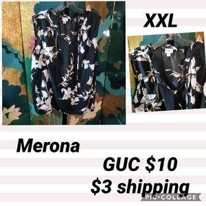 Merona XXL black sleeveless blouse